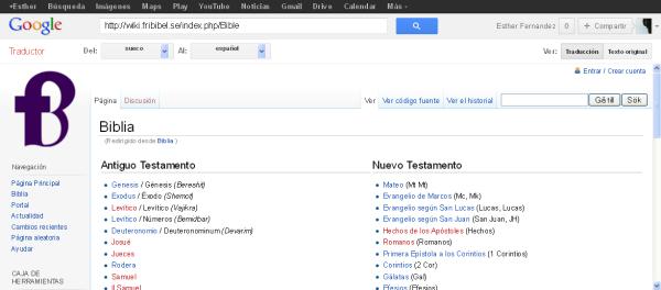 Traductor de Google la bibila